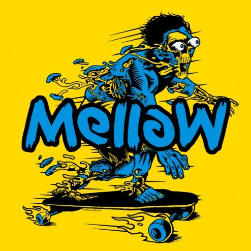Mellow The Endless Ride Mellow Artwork Germany Rocket Wink Longboard Skateboard Drive Electric 80er 80s Art