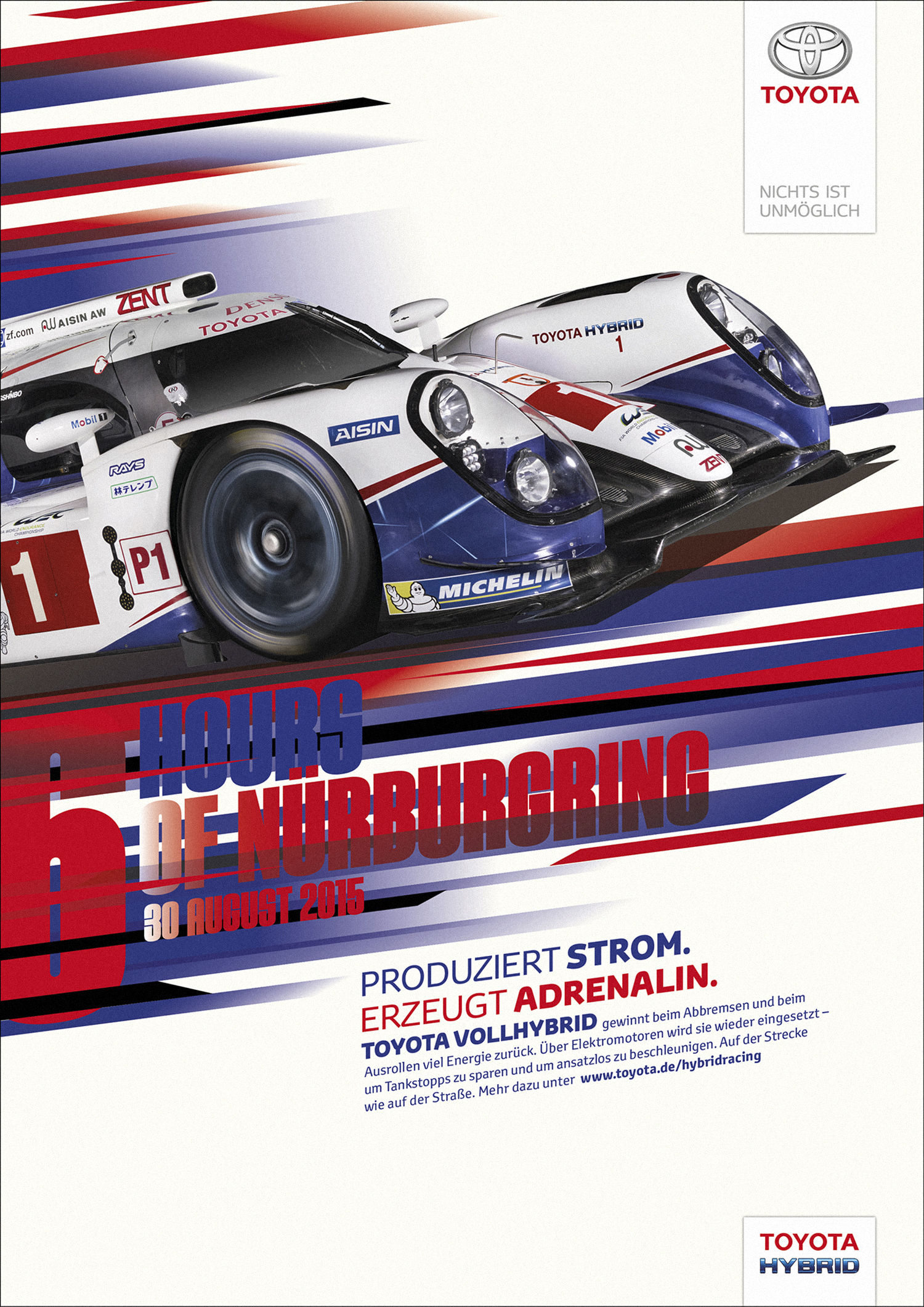Toyota. WEC Racing Posters. 2