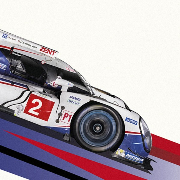 Toyota. WEC Racing Posters.